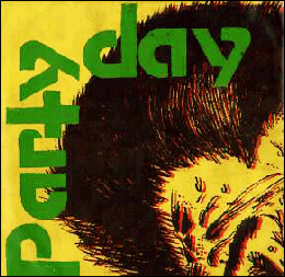 "Party Day - 'Spider' 7"" single cover"